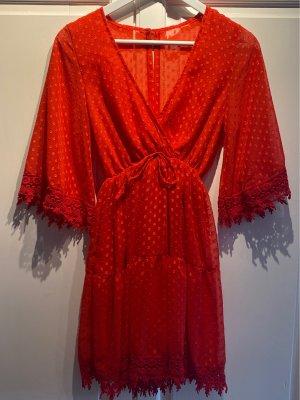 Fringed Dress red
