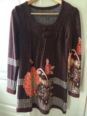 Kleid 40/42 M/L Berlin echt Vintage Ärmel Blumen 70er Jahre A-Form Damen Frauen Shirt Pullover Pulli Kleider