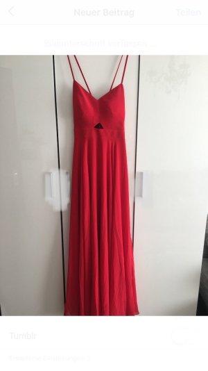 A Line Dress red