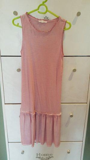 Esprit Vestido de tela de sudadera rosa empolvado