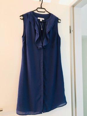 Amisu Vestido camisero azul acero