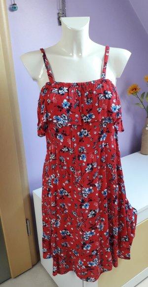 Off-The-Shoulder Dress red-blue