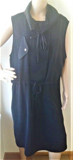 by Malene Birger Vestido de camuflaje negro tejido mezclado