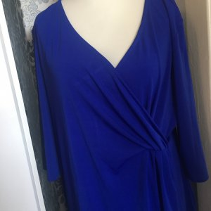 Robe stretch bleu