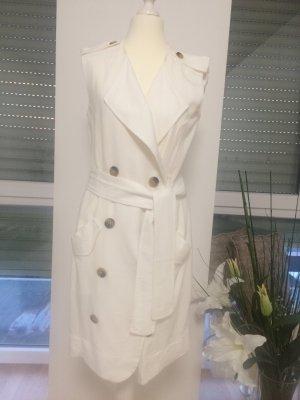 Mango Coat Dress natural white linen