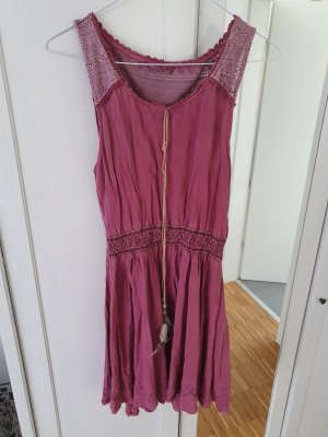 Review Jurk met langere achterkant roze