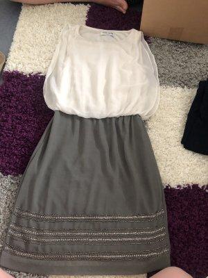 Vero Moda Maxi abito bianco-argento