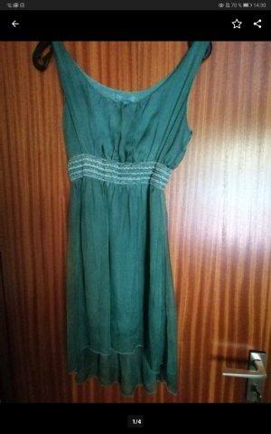 new collection Vestido mullet turquesa-azul cadete