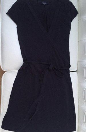 Vestido cruzado azul oscuro