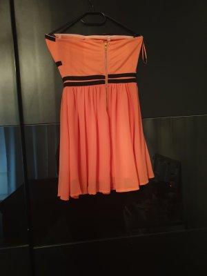 Midi Dress black-orange