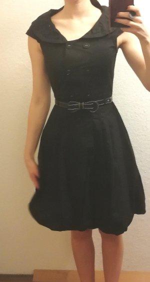 Kleid 50er Jahre Knöpfe schwarz Kragen