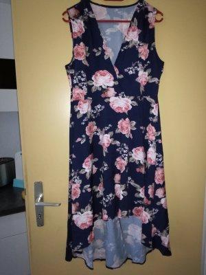 Vestido de tela de sudadera rosa-azul