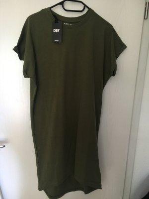 Robe en jersey vert olive
