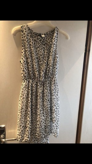 H&M Chiffon jurk wit-zwart