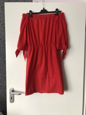 H&M One Shoulder Dress red