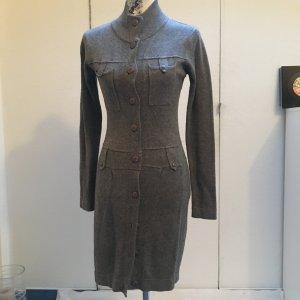 Robe en maille tricotées gris