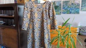 Kleid 60ies Style gelb mit grau, Gr. M
