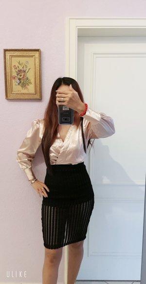 100% Fashion Sweatjurk zwart-stoffig roze