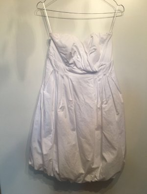 Zara vestido de globo blanco