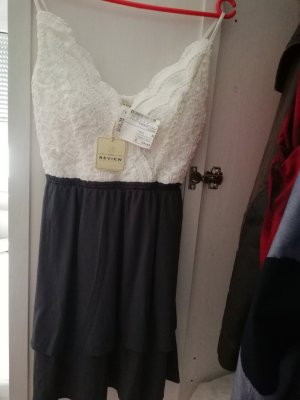 Review Lace Dress white-dark grey