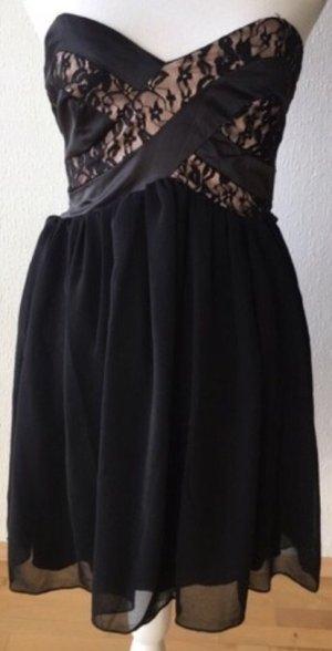 Amisu Vestido de cóctel negro-rosa claro