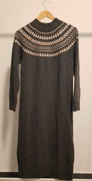 Massimo Dutti Vestido de lana gris oscuro-azul oscuro