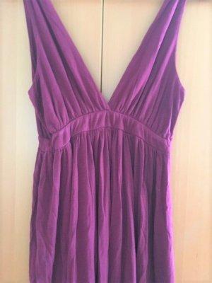 Cut out jurk magenta Textielvezel