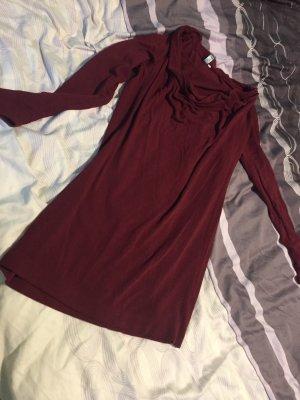 Robe tunique rouge foncé