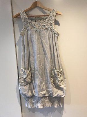 Balloon Dress silver-colored-light grey