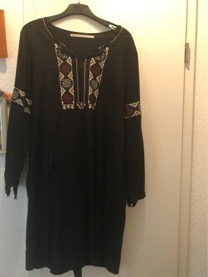 Conleys Vestido tipo blusón negro Viscosa