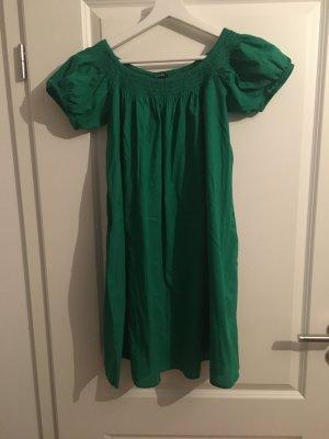 Monki Off the shoulder jurk groen Katoen