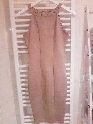Amisu Leather Dress beige