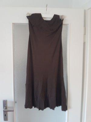 H&M Pinafore dress brown viscose