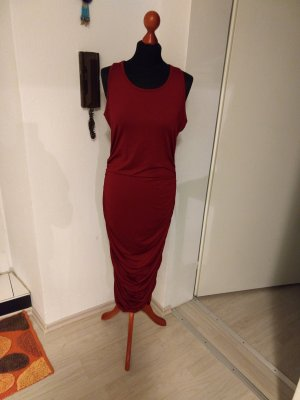 Midi Dress dark red
