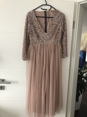 Maya Flounce Dress rose-gold-coloured-silver-colored
