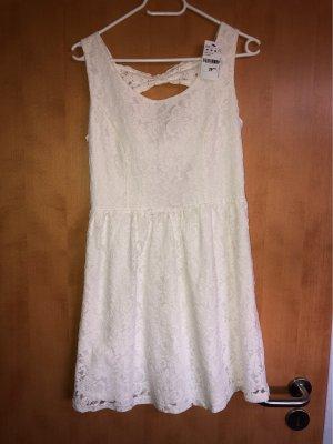 Pimkie Vestido de encaje blanco