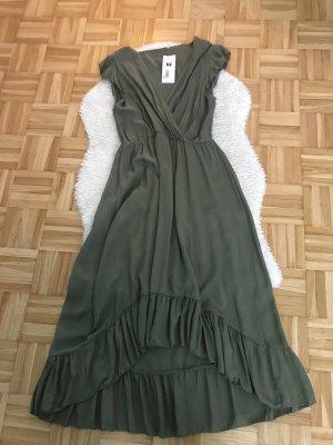 Made in Italy Vestido Hippie caqui