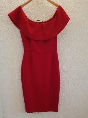 Zara Basic Avondjurk rood