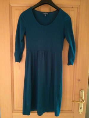 Biaggini Vestido de tela de jersey azul oscuro