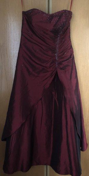 100% Fashion Robe de bal rouge foncé