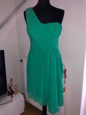 H&M One Shoulder Dress green-forest green