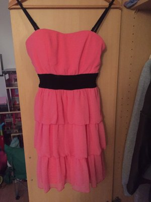 Tally Weijl Vestido bandeau rosa-negro
