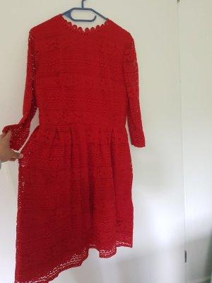 Anna Field Vestido de encaje rojo
