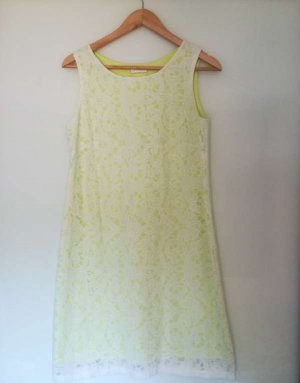 Promod Tube Dress white-lime yellow