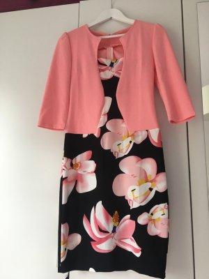 Abito blusa nero-rosa