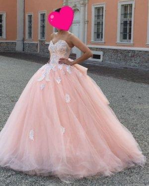 Robe de mariée abricot