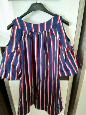 Balloon Dress dark red-dark blue