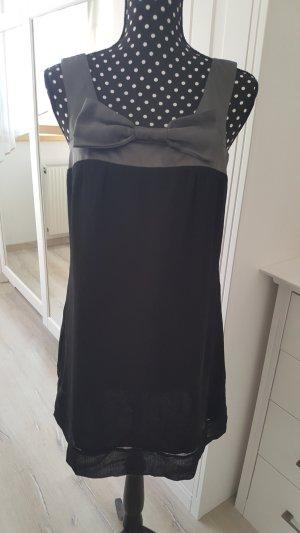 Vero Moda Jurk zwart-zilver Gemengd weefsel