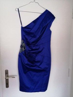Vestido de un hombro azul