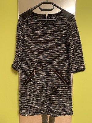 Hailys Robe pull noir-blanc